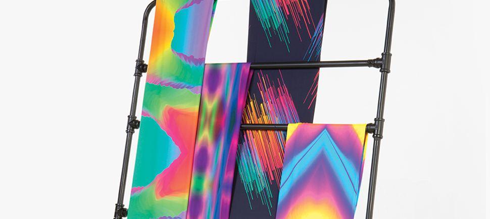Telas de colores brillantes